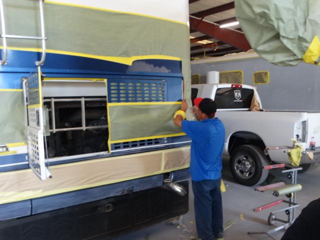 RV Collision Repair - Barstow, CA - RV body shop, RV Paint