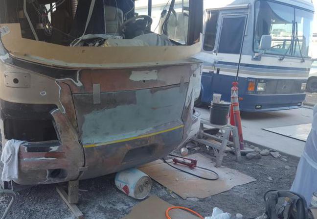 rv delamination insurance claim  Free mobile estimate | RV Collision Repair RV wall repair, RV ...