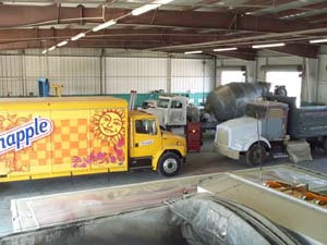 Fleet repair and paint, Fleet refinishing, Race trailer repair, 53ft trailer painting
